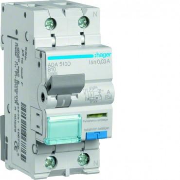 Wyłącznik różnicowo-nadprądowy 2P 10A B 0,03A typ A ADA510D