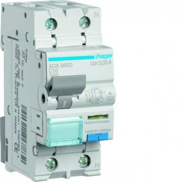 Wyłącznik różnicowo-nadprądowy 2P 10A C 0,03A typ A ADA560D