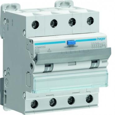 Wyłącznik różnicowonadprądowy 3+N B 10A 0,03A Typ A 6kA RCBO ADM410C