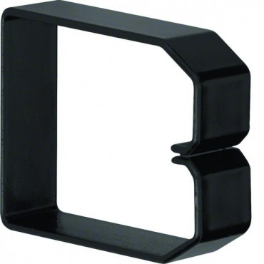 Klamra do przewodów 80x60mm czarna B800603 /10szt./