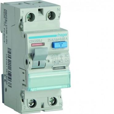 Wyłącznik różnicowoprądowy 2P 25A 0,03A typ AC CDC225J