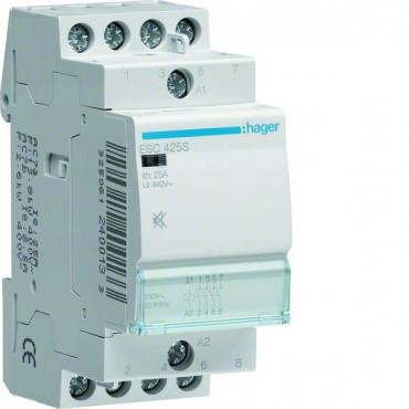 Stycznik modułowy cichy 25A 4Z 0R 230V AC ESC425S
