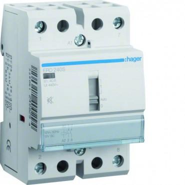 Stycznik cichy ze sterowaniem ręcznym 40A 2Z 24V AC/DC ERD240S
