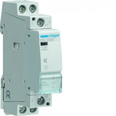 Stycznik modułowy cichy 25A 2Z 0R 230V AC ESC225S