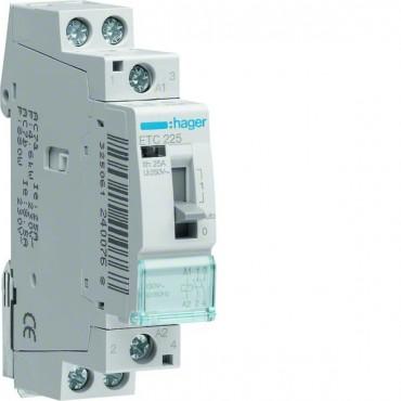 Stycznik taryfowy ze sterowaniem ręcznym 25A 2Z 0R 230V AC ETC225