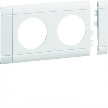 Maskownica 2-krotna ABS bezhalogenowe (HFR) biały GB080209010