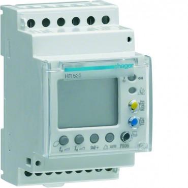Przekaźnik różnicowoprądowy 0,03-10A typ A regulowana zwłoka, 50% LCD, test HR525