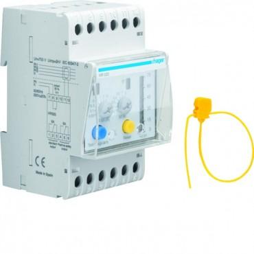 Przekaźnik różnicowoprądowy 0,03-10A regulowana zwłoka 50% LED HR520