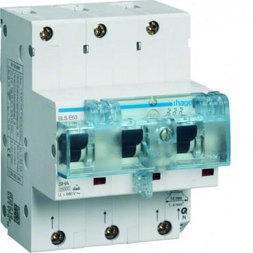 Wyłącznik nadprądowy selektywny 3P Cs 63A 25kA SLS TS35 HTN363C