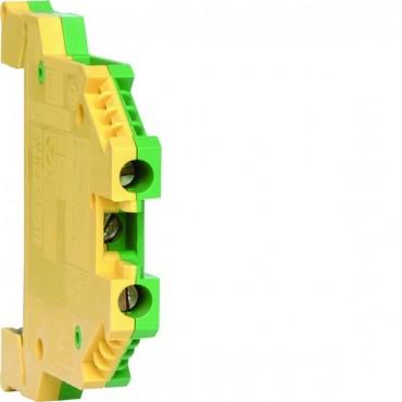 Zacisk szeregowy ochronny PE 2,5mm2 żółto-zielony KXA02E