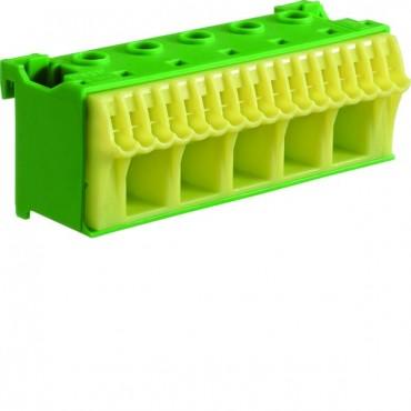 Blok samozacisków QC 63A zielony 22 przyłączy 33x90x34mm KN22E