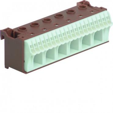 Blok samozacisków QC 63A brązowy 26 przyłączy 33x105x34mm KN26P