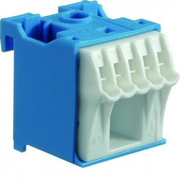 Blok samozaciskow 63A QC niebieski 6 przyłączy 33x30x34mm KN06N
