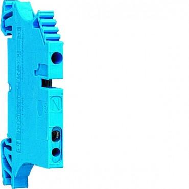 Zacisk szeregowy instalacyjny neutralny 2,5mm2 niebieski KXA02NH