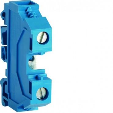 Zacisk szeregowy instalacyjny neutralny 16mm2 poliamidowy niebieski KXA16N