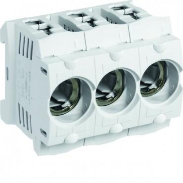 Gniazdo bezpiecznikowe na szynę 3P 63A D02 400V DIN LD046