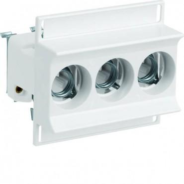 Gniazdo bezpiecznikowe na szynę 3P 16A D01 400V DIN D0 3168/3 D01/E14 LD01K16-3AS