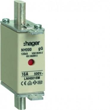 Wkładka bezpiecznikowa NH000 16A 500V gG LNH0016M