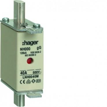 Wkładka bezpiecznikowa NH000 40A 500V gG LNH0040M
