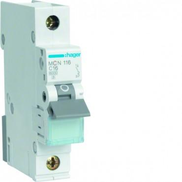 Wyłącznik nadprądowy 1P C 16A 6kA AC MCN116E