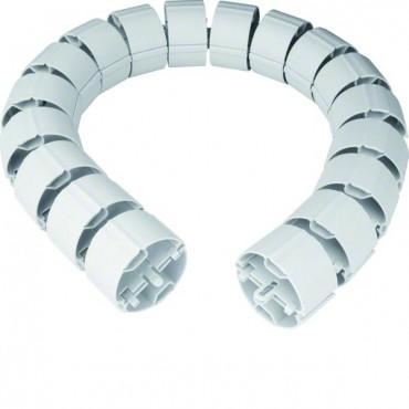 Osłona elastyczna kabli okrągła fi 70mm 1m jasnoszara RK17035