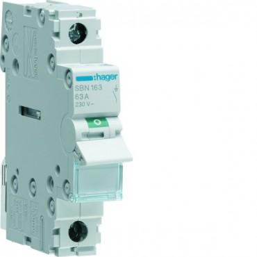 Rozłącznik modułowy 63A 1P SBN163