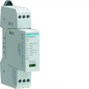 Ogranicznik z modułami wymiennymi 3kA typ 3 ze wskaźnikiem SPD 1P+N SPN203N