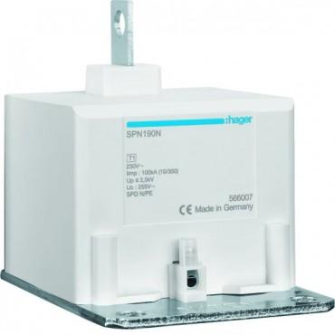 Ogranicznik przepieć kombinowany z bezpiecznikiem B 1P N-PE 100kA 2,5kV SPN190N