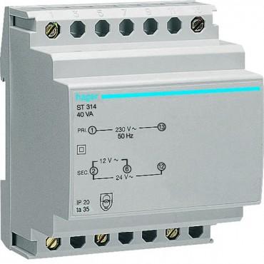 Transformator bezpieczeństwa 230/12-24V AC 40VA ST314