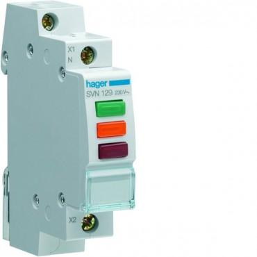 Lampka modułowa 3-fazowa czerwony/zielony/pomarańczowy 230-400V AC SVN129