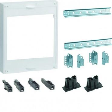 Zestaw dla 2 rozłączników NH00/NH000 z szynami TS35 Univers NHC 300x250mm UC21ST0
