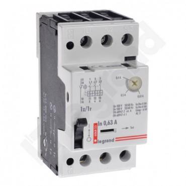 Wyłącznik silnikowy 3P 0,12kW 0,4-0,63A M 250 1R/1Z 0,63 606823