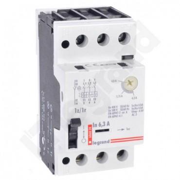 Wyłącznik silnikowy 3P 2,5kW 4-6,3A M 250 1R/1Z 6,3 606828