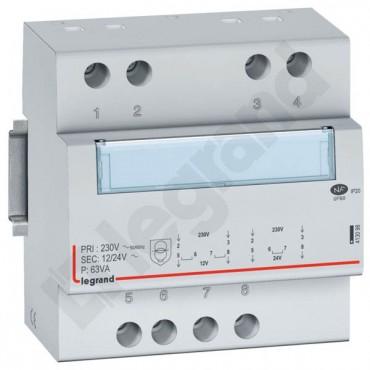 Transformator bezpieczeństwa modułowy 230/12/24V 63VA TR363 413098