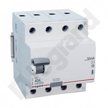 Wyłącznik różnicowoprądowy 4P 40A 0,03A typ AC P304 RX3 402063