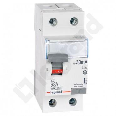 Wyłącznik różnicowoprądowy 2P 63A 0,03A typ AC P302 TX3 411511