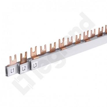 Szyna łączeniowa 3P 80A 16mm2 widełkowa (54 mod.) BI3/16x54 607048