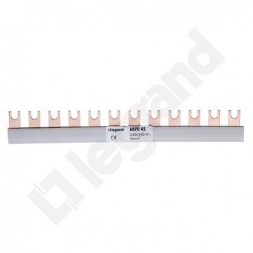 Szyna łączeniowa 1P 80A 16mm2 widełkowa (12 mod.) BI1/16x12 607045