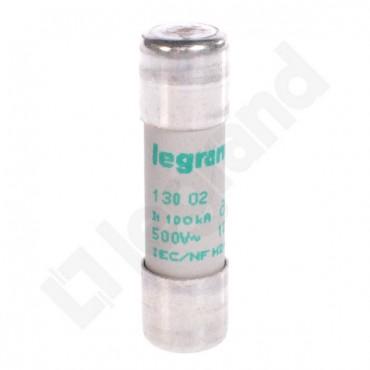 Wkładka bezpiecznikowa cylindryczna 10x38mm 2A aM 500V HPC 013002