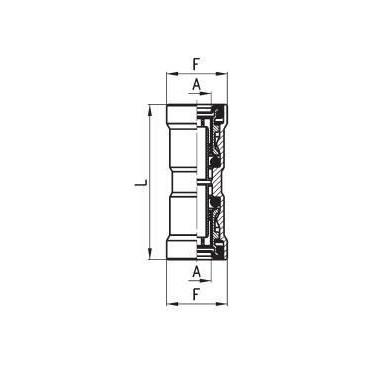 Złączka wtykowa C-TRUCK prosta przelotowa model 9580
