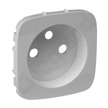 VALENA ALLURE Plakietka gniazda pojedynczego 2p+z aluminium 755307