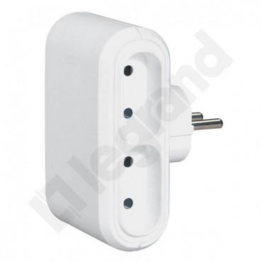HELMO Rozgałęźnik wtyczkowy Euro 4x2P 6A biały 50650