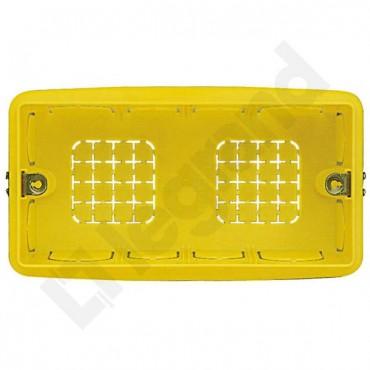 PLEXO Puszka p/t żółta, moduły, 130x71x52mm 504E