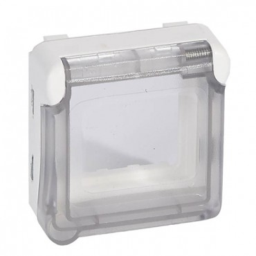 PLEXO55 Adapter M45 antybakteryjny z klapką biały 070725