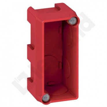 Batibox Puszka pojedyncza moduł MOSAIC do ścian murowanych 40mm czerwona 080140
