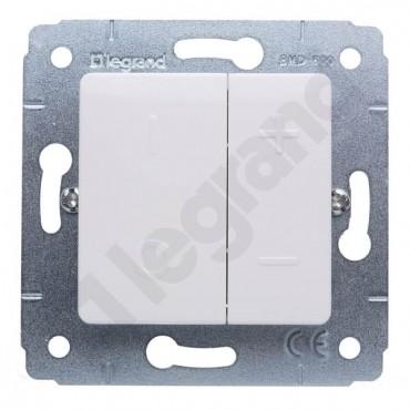 CARIVA Ściemniacz przyciskowy biały 40-600VA 230V biały 773615