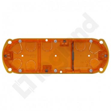 Batibox Puszka potrójna podtynkowa 67mm 213x50mm pomarańczowa 080123