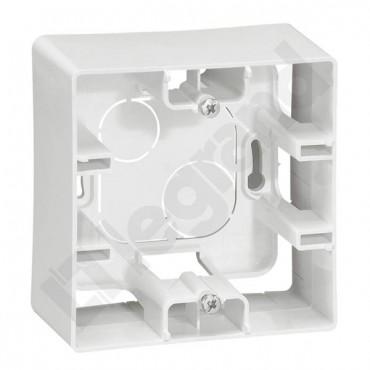NILOE.Puszka natynkowa jednokrotna 88.5x88.5x40mm IP20 biała 88,5x88,5x40 664798