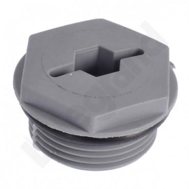 Zaślepka poliamidowa M25 szara ISO 25 098045