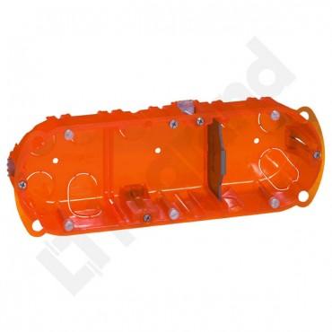 Puszka uniwersalna 214mm 72x40mm potrójna pomarańczowy Batibox 080103